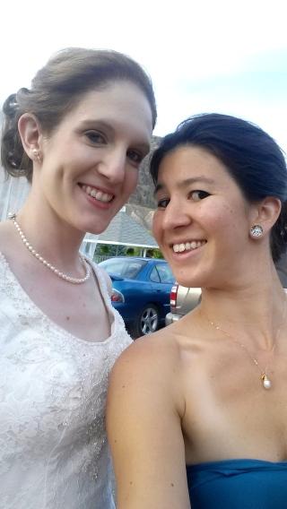 The beautiful bride & I!